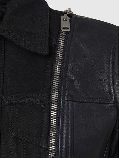 Diesel - L-LAZAY, Black - Leather jackets - Image 6