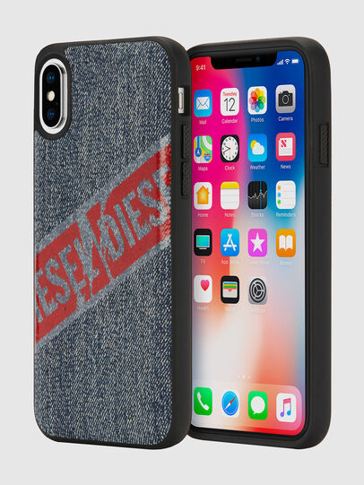 Diesel - VINTAGE DENIM IPHONE X CASE, Blue Jeans - Cases - Image 1