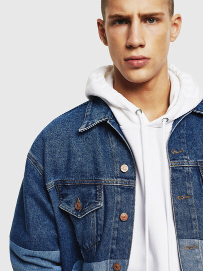 Diesel - D-PUF, Medium blue - Denim Jackets - Image 3