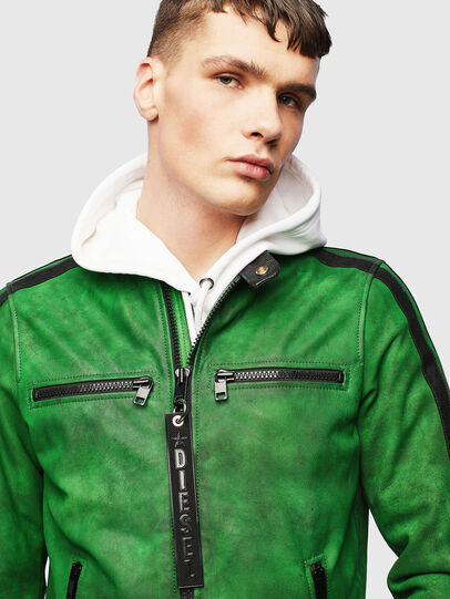 Diesel - L-BOY-A, Green - Leather jackets - Image 5