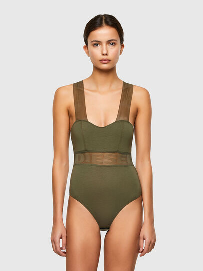 Diesel - UFBY-BODYMESH, Military Green - Bodysuits - Image 1