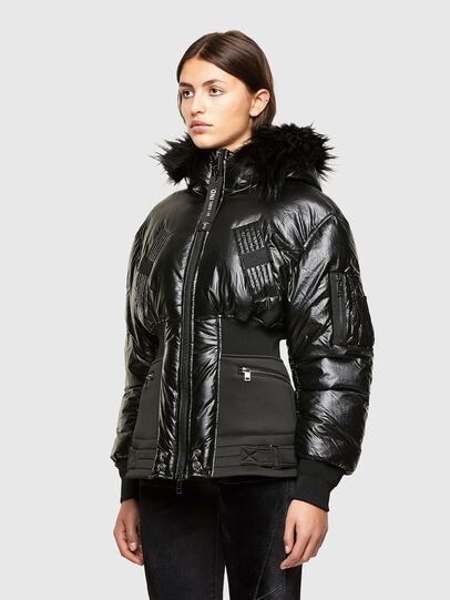 Diesel - W-ISOKE-SHINY, Black - Winter Jackets - Image 7