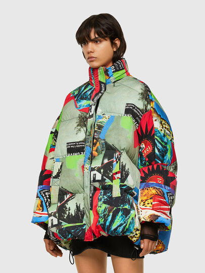 Diesel - W-EMMICK, Red/Green - Winter Jackets - Image 4