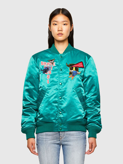 Diesel - CL-J-ROSS-REV-O, Water Green - Jackets - Image 2