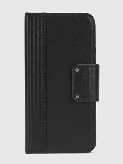 Diesel - BLACK LINED LEATHER IPHONE X FOLIO,  - Flip covers - Image 2