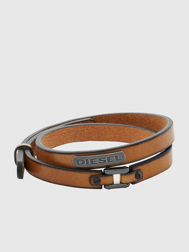 Diesel - BRACELET DX0984, Brown - Bracelets - Image 1