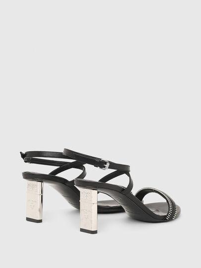 Diesel - SA-LEZIPPO, Black - Sandals - Image 3