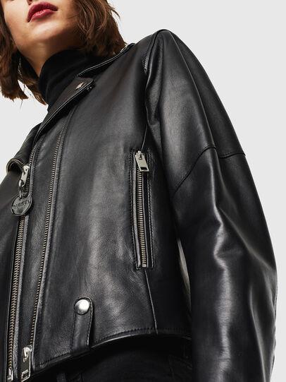 Diesel - L-LYFA, Black - Leather jackets - Image 5