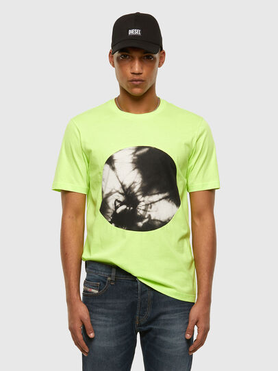 Diesel - T-MOONY-X2, Green Fluo - T-Shirts - Image 5