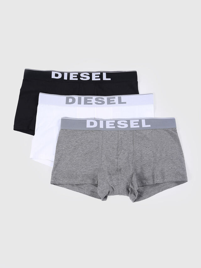 Diesel UMBX-KORYTHREEPACK, White/Black - Trunks - Image 1