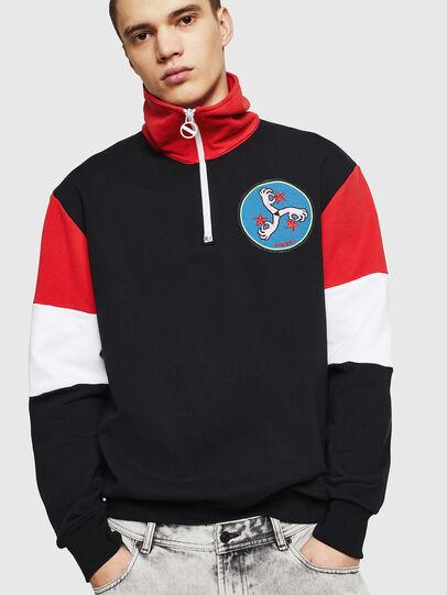 Diesel - S-LEONID, Black/Red - Sweaters - Image 1