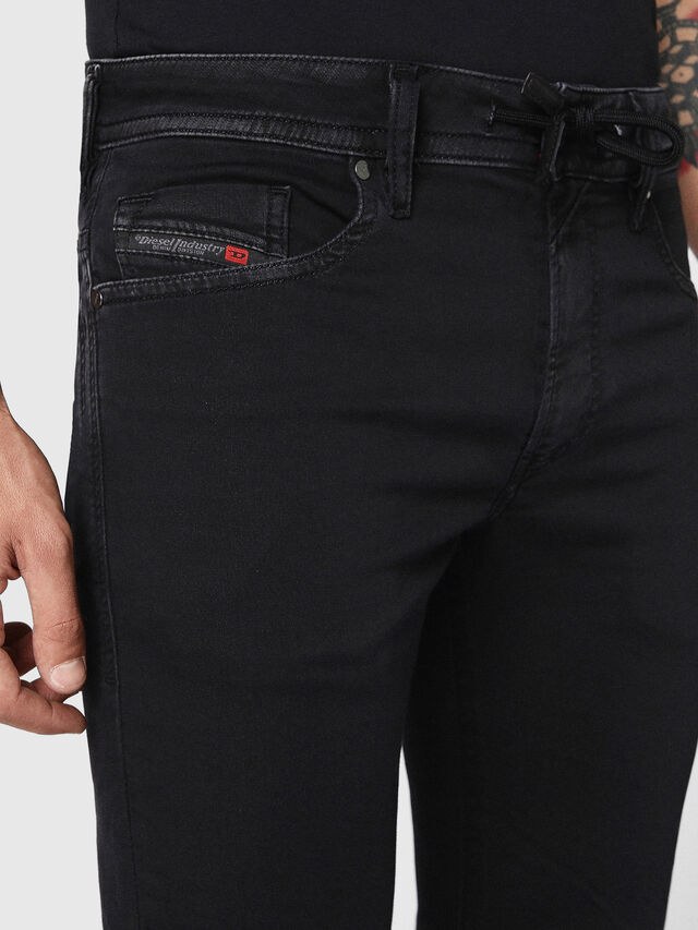 Diesel Thommer JoggJeans 0687Z, Black/Dark grey - Jeans - Image 4