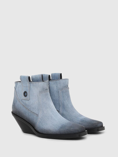 Diesel - D-GIUDECCA MAB, Blue Jeans - Ankle Boots - Image 2