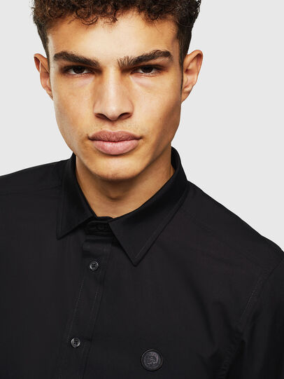 Diesel - S-BILL, Black - Shirts - Image 3