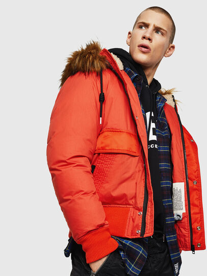 Diesel - W-BURKISK, Orange - Winter Jackets - Image 4