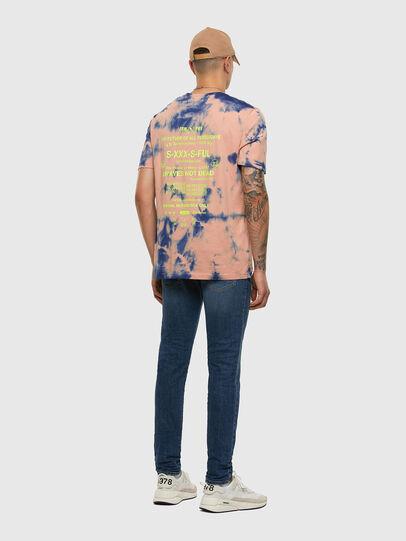 Diesel - T-JUST-SLITS-X86, Pink/Blue - T-Shirts - Image 6