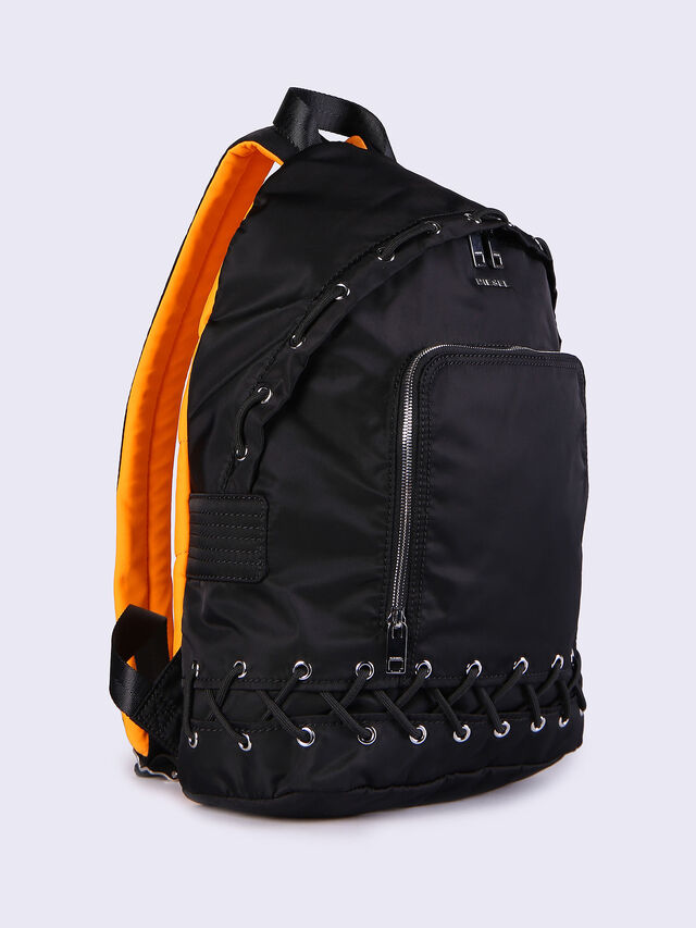 F-SUPERPASS BACK, Black/orange fluo
