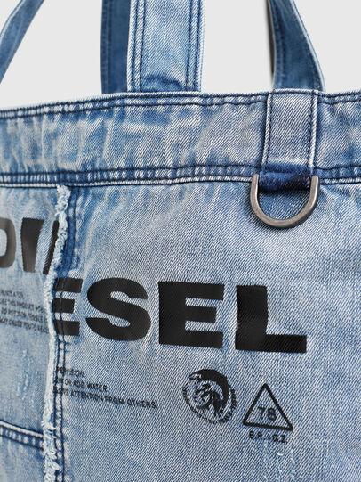 Diesel - D-THISBAG SHOPPER L, Light Blue - Shopping and Shoulder Bags - Image 4