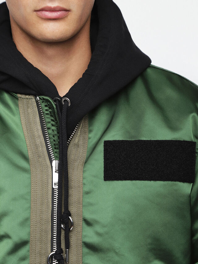 9f72711c1740 J-SOULY Men  Shiny nylon bomber jacket with patches