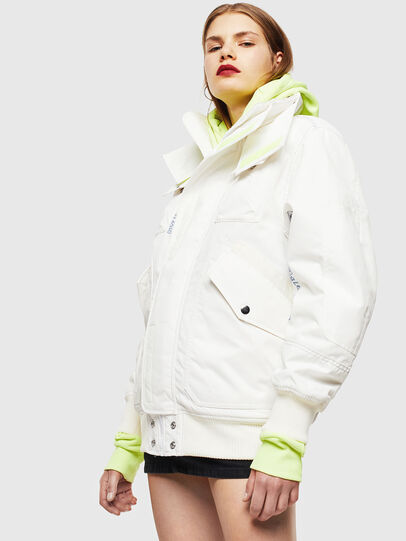 Diesel - W-OKSO, White - Winter Jackets - Image 2
