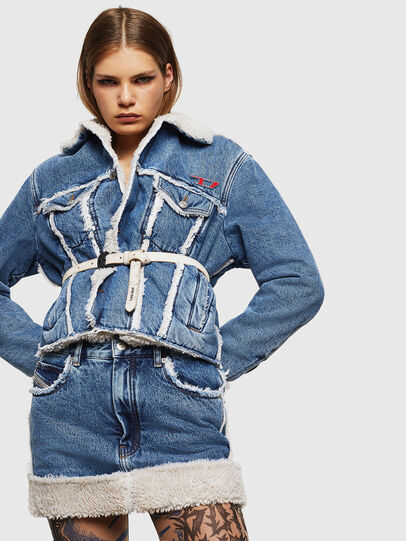 Diesel - DE-TILDRA, Medium blue - Skirts - Image 4