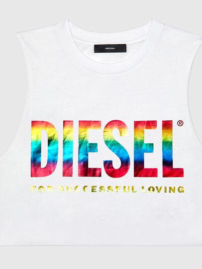Diesel - BFOWT-MUSCLE-ROUNDIE, White - Tops - Image 3