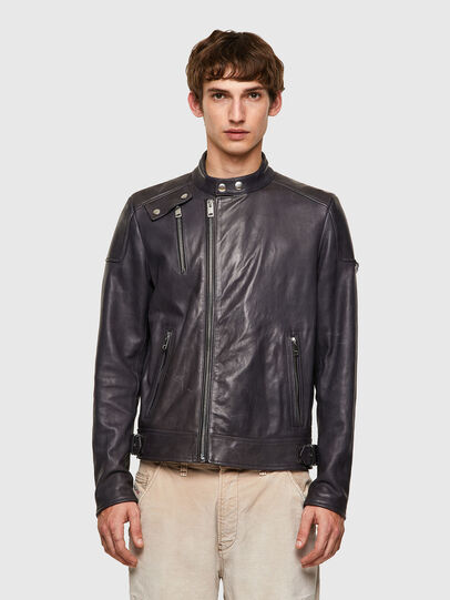 Diesel - L-CODY-NEW, Black - Leather jackets - Image 1