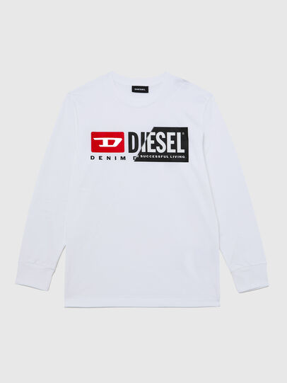 Diesel - TDIEGOCUTY ML, White - T-shirts and Tops - Image 1