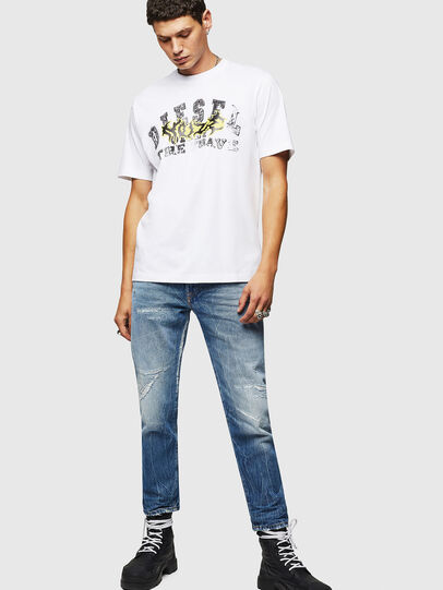 Diesel - T-JUST-B25, White - T-Shirts - Image 5