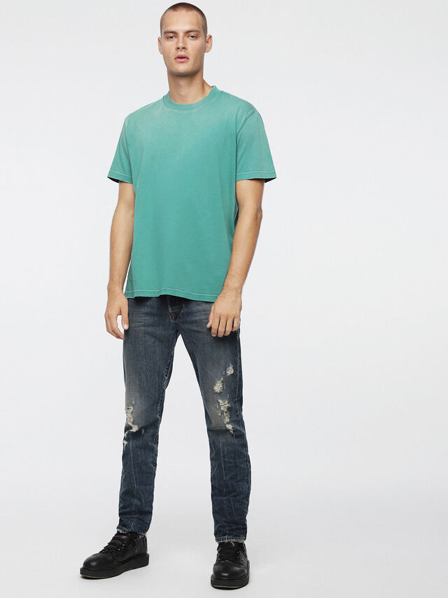Diesel T-JOEY-T, Water Green - T-Shirts - Image 4