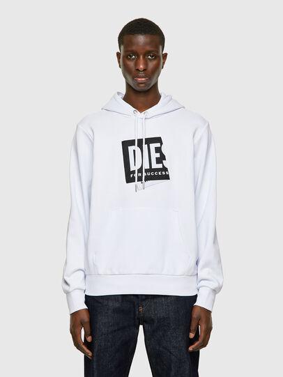 Diesel - S-GIRK-HOOD-LAB, White - Sweaters - Image 1