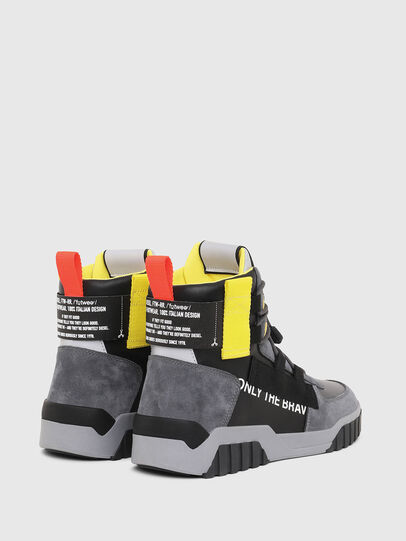 Diesel - S-RUA MID SP, Gray/Black - Sneakers - Image 3