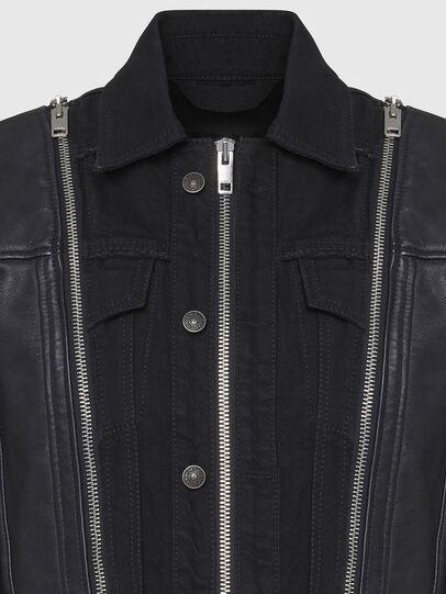 Diesel - L-LAZAY, Black - Leather jackets - Image 4