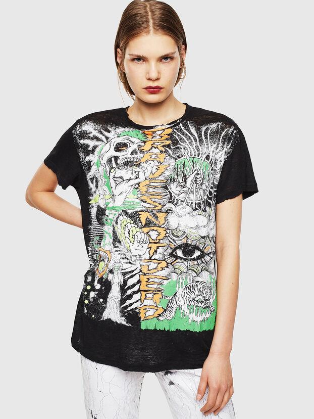 T-DARIA-YB, Black - T-Shirts
