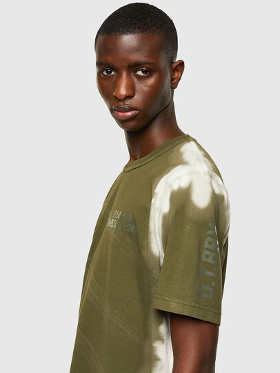 Diesel - T-JUBIND-SLITS-A3, Military Green - T-Shirts - Image 3