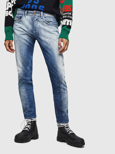 Diesel - Thommer JoggJeans 0870N, Medium blue - Jeans - Image 1
