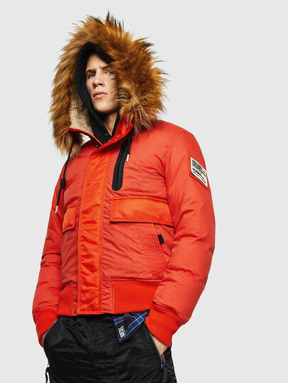 Diesel - W-BURKISK, Orange - Winter Jackets - Image 1