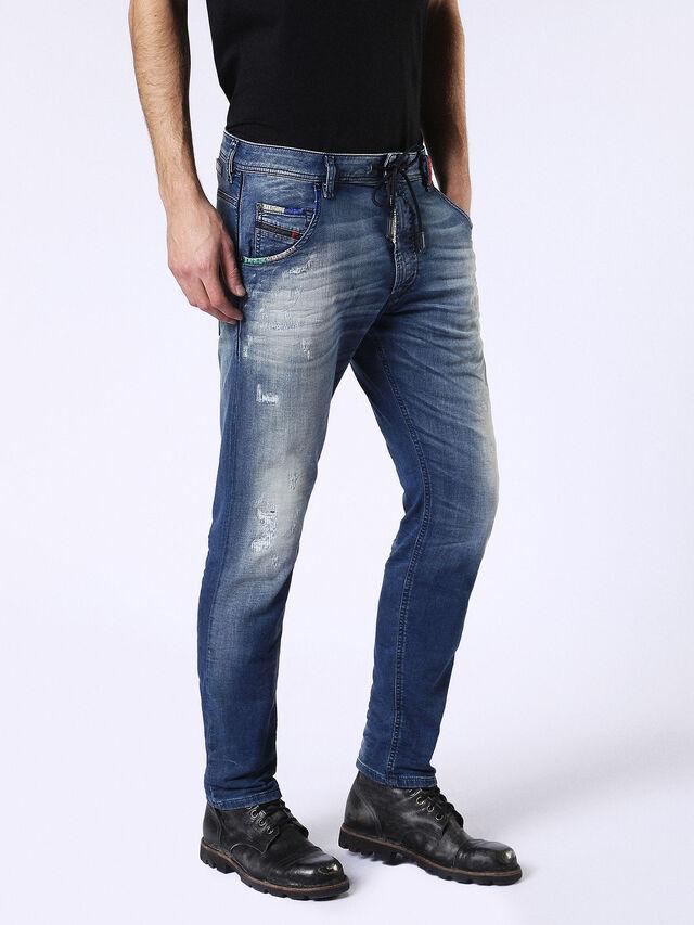 Diesel Krooley JoggJeans 0680Y, Medium blue - Jeans - Image 6