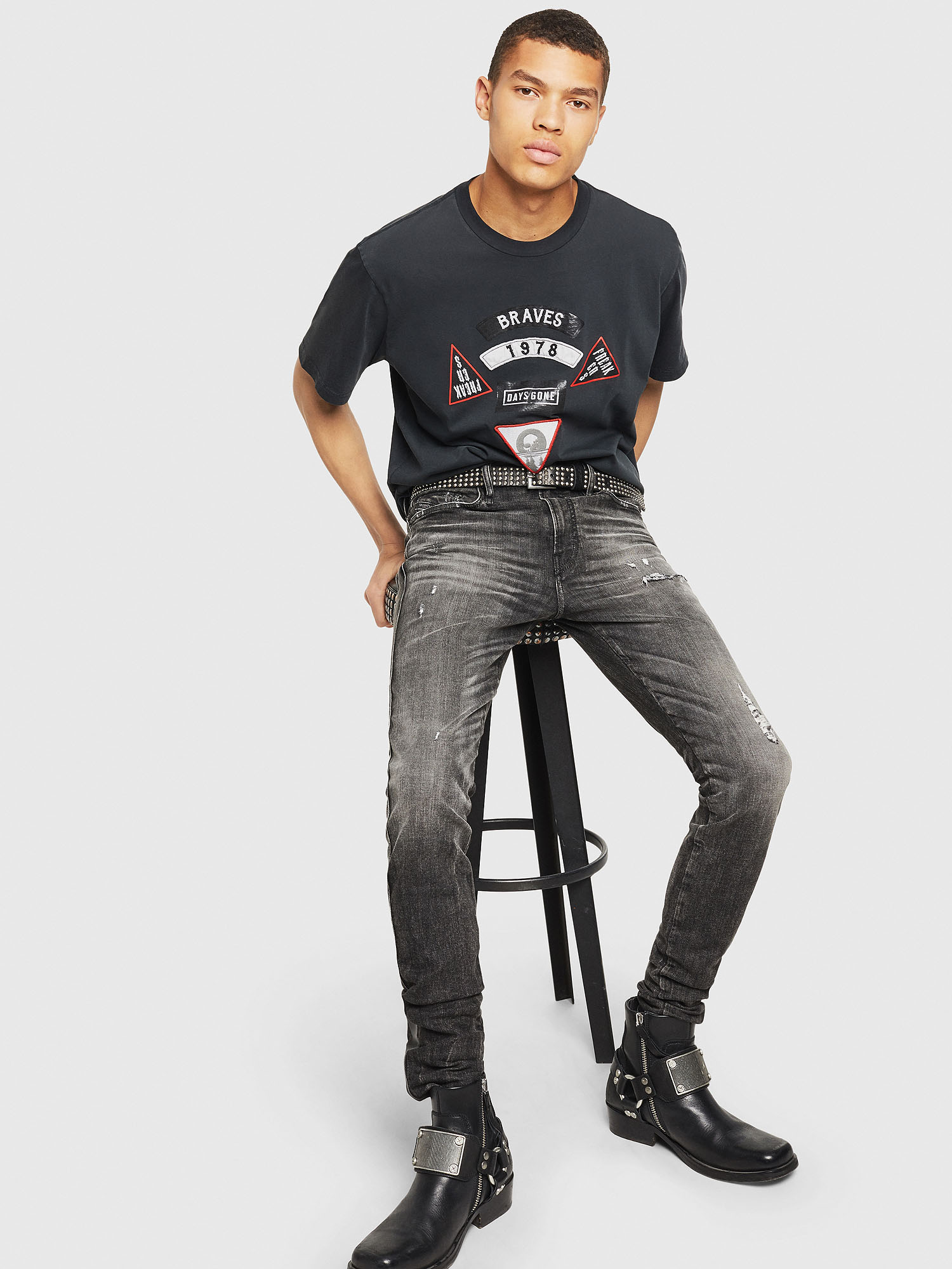 Diesel - PS-T-JUST-RIBS,  - T-Shirts - Image 6