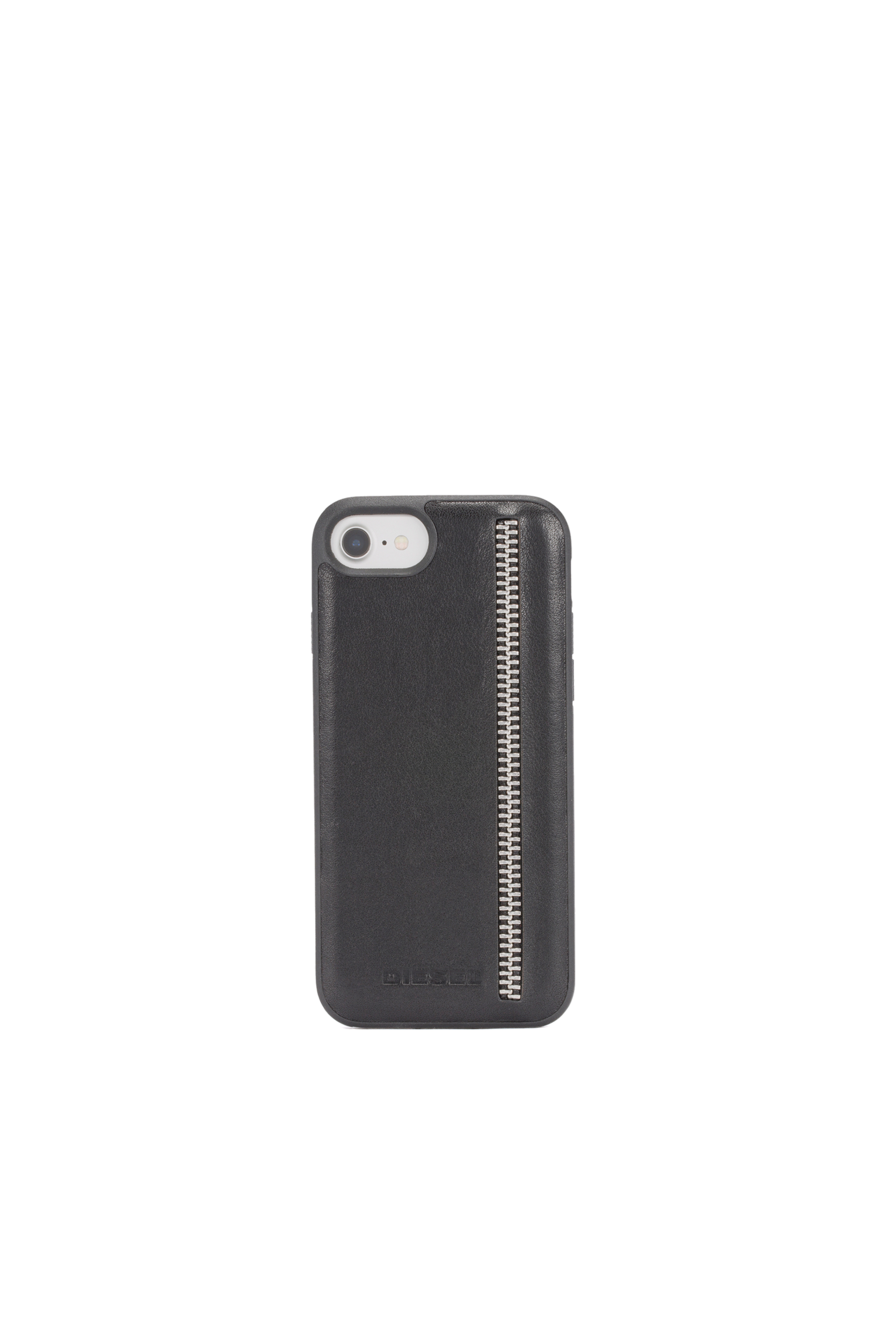 Diesel - ZIP BLACK LEATHER IPHONE 8/7/6s/6 CASE,  - Cases - Image 4